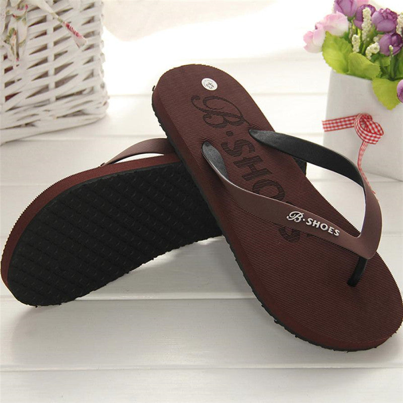 Men Slippers Summer Shoes Sandals Male Slipper Indoor Or Outdoor Flip Flops Casual Men Non-Slip Flip Flops Beach Shoes 40-44 - thefashionique