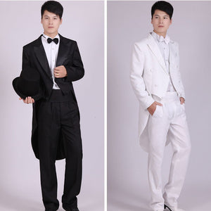 Men Suits 4 Piece (Jacket+Pants T+Bow Tie+Belt) Tailcoat Suits Men's Blazers Slim Fit Groom Wedding Prom Tuxedo  Man Suit - thefashionique
