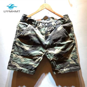 Men Summer Fashion Brand Japan Style Vintage Military Camouflage Slim Fit Shorts Male Casual Thin Safari Shorts Beach Shorts
