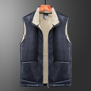 Men Vest Jacket Autumn Winter Casual Sleeveless Jacket Men Warm Fleece Mens Vest