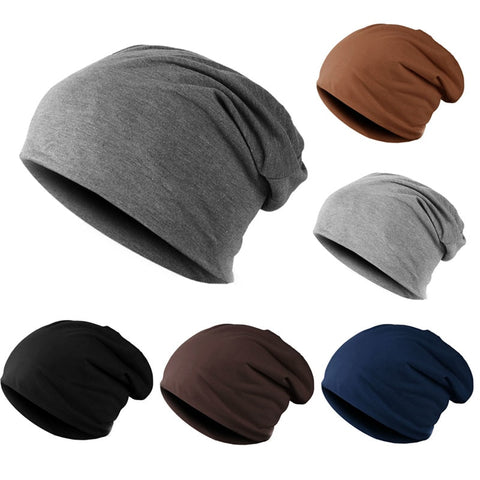 ffd94917736 Men Women Beanie Knitted Winter Autumn Cap Solid Color Hip-hop Slouch hats  skullies chapeu