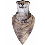 Men Women mask Outdoor 3D Cat Dog Bandana Half Face Mask Warmer Neck Gaiter Face Shield Bike Ski Hiking Cycling Sport Balaclava