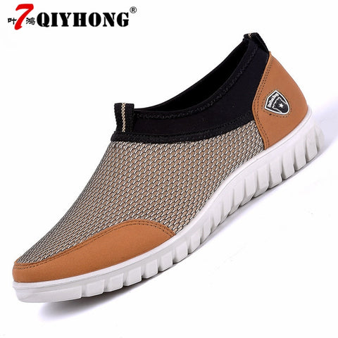 Men's Casual Shoes Sneakers Summer Mesh Breathable Comfortable Men Shoes Loafers footwears Slipon Walking Big Size 38-48 - thefashionique