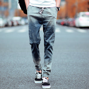Mens Jeans 2017 Slim Male Jeans Casual Skinny Denim Biker Jeans Hiphop Pants Gradient Color New Brand High Quality Trousers - thefashionique