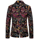Mens Slim Printed Wedding Blazer Suit Jackets Men's Fashion In Autumn Winter Retro Printed Suit Coat americana hombr