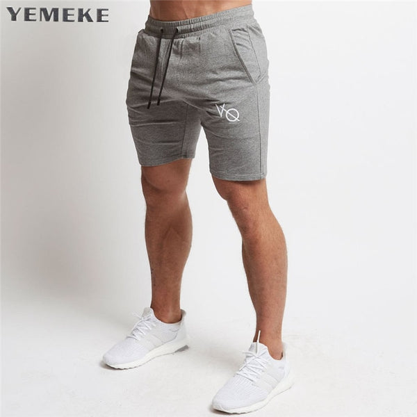 Mens cotton shorts Calf-Length gyms Fitness Bodybuilding Casual Joggers workout Brand sporting short pants Sweatpants Sportswear - thefashionique