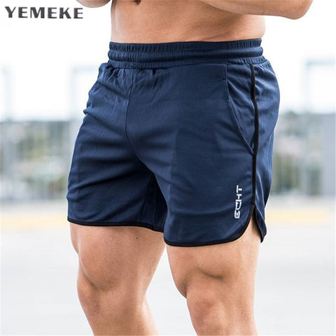 Mens shorts Calf-Length gyms Fitness Bodybuilding Casual Joggers workout Brand sporting short pants Sweatpants Sportswear - thefashionique
