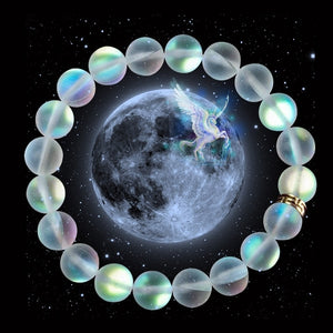 Mermaid Matte Beads Bracelets Elastic Glass Beads Bracelet for Women & Men Moonstone Jewelry Christmas Gifts Handmade Wristband