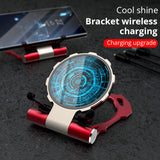 Metal Iron Man Wireless Charger For Samsung S9 S8 iPhone Xs/8plus/X Fold Phone Stand Wireless Charging Bracket For Huawei Xiaomi - thefashionique