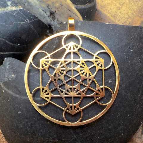 Metatron's Cube pendant  Silver plated necklaces & pendants with 60 cm chain for women - thefashionique