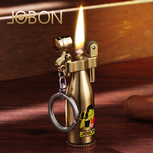 Mini Vintage Vintage Grinding Wheel Kerosene Lighter Windproof Creative Men and Women Metal Gift