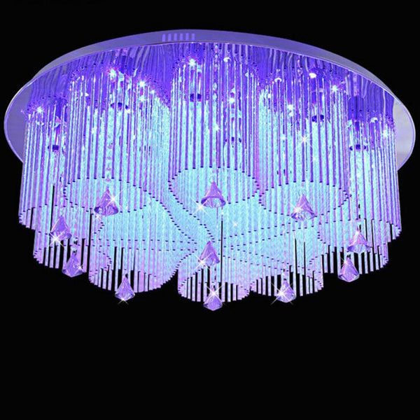 Modern crystal lamp round LED ceiling lamps living room light heart shaped bedroom restaurant lighting lamps fixture led lamps