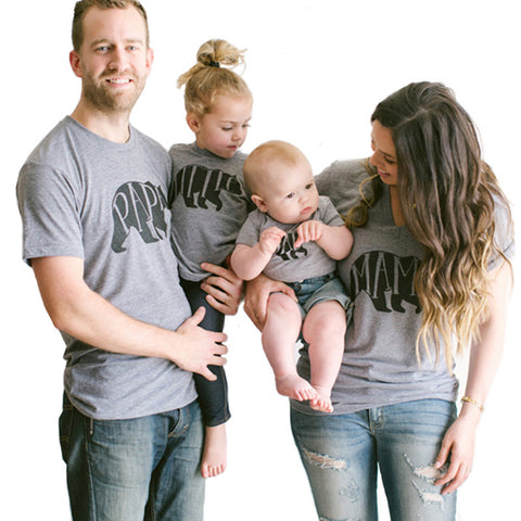 60f4f37432a2 Mom Bear Baby Bear Shirt Mother and Son Daughter Matching Clothes Matching  Family Outfits Summer Family. Add to wishlist