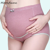 Moonflame Maternity Underwear Pregnancy High Waist Dot Printed Panties For Pregnant Women Cotton Intimates Briefs 2068 - thefashionique