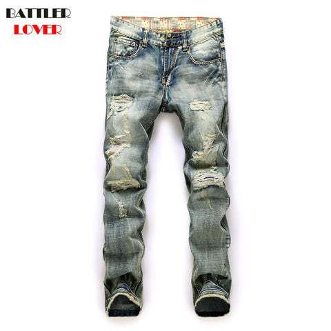 0cd838f6 Motor Jeans Men Biker Street Dance Jeans Luxury Designer Trousers Mens Hip  Hop Ripped Hole Jeans