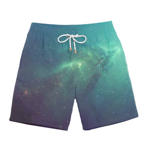 Multicolored Quick Dry Hip Hop Beach Shorts - thefashionique