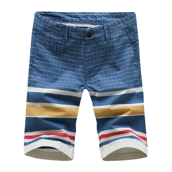 My Fashioner Brand New Summer 100% Cotton Striped Smart Casual Shorts Men Denim Ripped Fashion Streetwear Shorts Men Plus - thefashionique