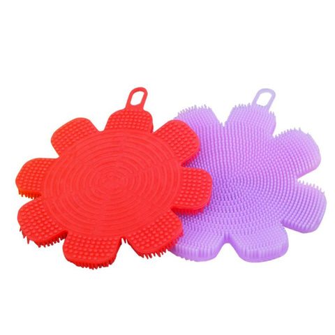 My House  Food Grade Silicone Dishwashing Sponge Brush Antibacterial Kitchen Cleaning Pad 2017 New Hot Sell 17Mar13