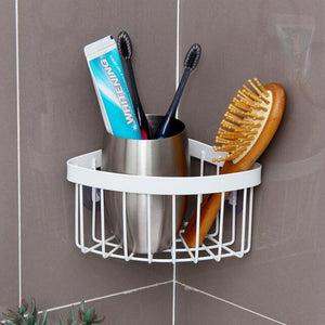 NAIYUE Bathroom Kitchen Corner Storage Rack Organizer Shower Shelf Rack Stand Shoe Holder Easy To Install Corner Snapup 19MAY31 - thefashionique