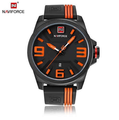 NAVIFORCE New Watch Men Sport Quartz Watches Colorful Fashion and Casual Watches Clearly See Analog Male Clock Relogio Masculino - thefashionique