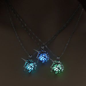 NEW Metal Unicorn Necklace For Woman Hollow Animal Horse Pendant Necklace Christmas Luminous Jewelry Glow in the Dark Wholesale - thefashionique