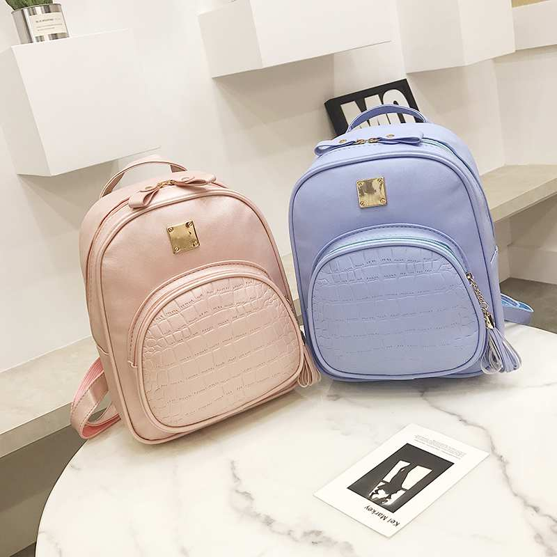 NIBESSER Backpacks Woman 2018 Mini Leather Backpack Female Solid Color Bookbag Mochila Gift Backbag Backpack Schoolbag For Girls - thefashionique