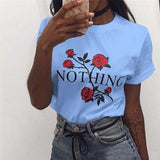 NIBESSER Plus Size 3XL pink T Shirt Women Summer 2018 Short Sleeve O-Neck Tops Tees Casual Floral Print TShirt Womens Funny tees - thefashionique