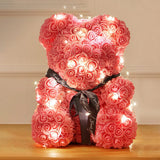 NICROLANDEE New PE Bear of Rose 2019 Valentines Day Gift Wedding Girlfriend Gift Anniversary DIY Home Party Decoration Decor