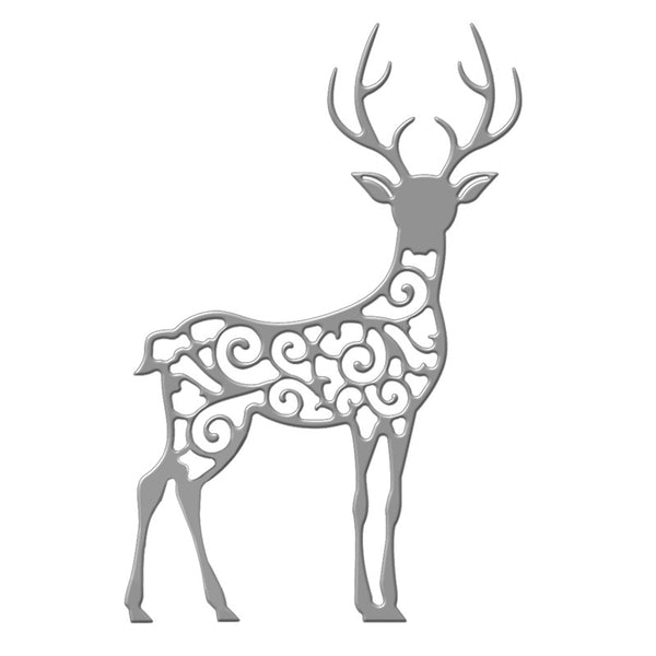 Naifumodo Filigree Reindeer Die for Scrapbooking 2019 New Cutting Dies DIY Album Card Making Decor Paper Craft - thefashionique