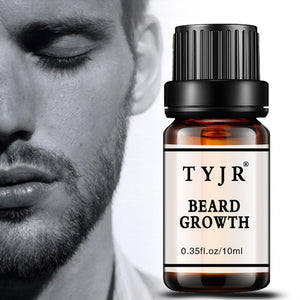 Natural Organic Beard Oil 10ML Men Beard Growth Fluid Beard Wax balm Leave-In Conditioner For Groomed Hair Growth Essential oil - thefashionique