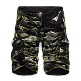 New 2018 Men Cargo Shorts Casual Loose Short Pants Camouflage Military Summer Style Knee Length Plus Size 10 Colors Shorts Men - thefashionique