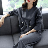 New 2018 Spring Autumn Fashion Women's Business Pants Suits Pearl Button Ruffles Suits For Women 2 Pieces Set HA062 - thefashionique