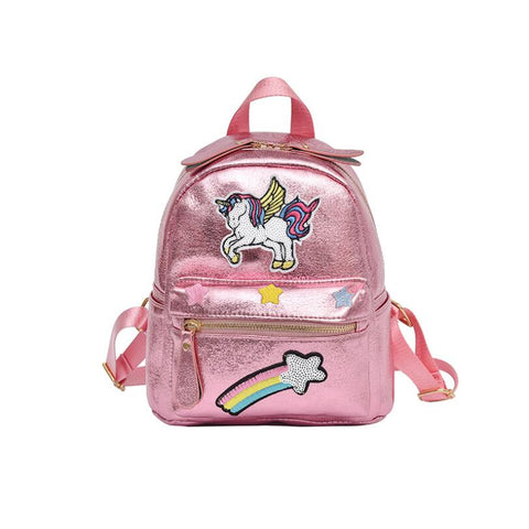 New 2018 Women Unicorn Leather Backpack Children SchoolBags For Teenager Female Small Shoulder Bag Cute Travel Mini Backpack - thefashionique