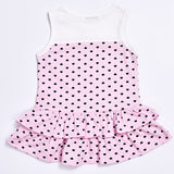 New 2018 summer baby girl dress Cute sleeveless dress with small heart+ short cardigan 2/pcs Newborn baby girl clothes set - thefashionique