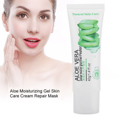 New Aloe Moisturizing Gel Acne Removal Pain Relief Beauty Skin Care Cream Repair Mask - thefashionique