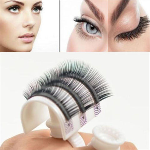New Arrival 1Set Eyelash Glue Ring Adhesive Eyelash Pallet Holder Makeup Kit Tool Women Beauty Accessory - thefashionique