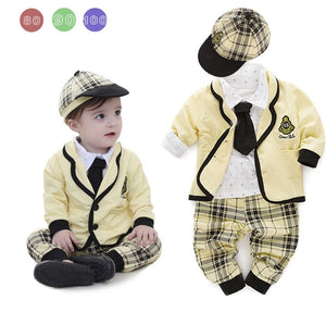 New Arrival Gentleman Bowtie Decorated Boys 5-piece Suit Set /Cool baby Boy Clothes 3025