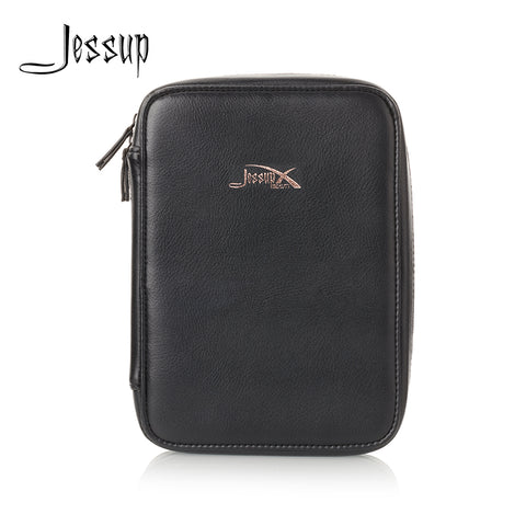 New Arrival Jessup Royal blue & Black Cosmetic bag set for Makeup accessories Women bags Make up tools Travel beauty case CB006 - thefashionique