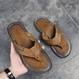 New Arrival Summer Men Flip Flops High Quality Beach Sandals Non-slip Male Slippers Zapatos Hombre Casual Shoes - thefashionique