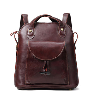 New Arrival Women Backpack 100% Genuine Leather Ladies Travel Bags High Quality Preppy Style Schoolbags For Girls/female gifts - thefashionique