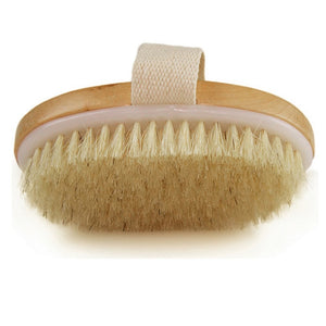 New Arrival Wooden Bath Nature Bristle body Brush Long Handle Reach Back Body Shower Brush SPA Scrubber Bathroom
