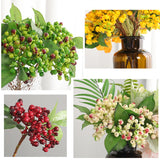 New Artificial Berries Foam Little Red Pomegranate Fruit DIY Wreath Material for Christmas Home Party Decoration