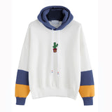 New Autumn Women Cactus Printing Hoodies Sweatshirts Kpop Harajuku Sweats Women Clothing Loose Kawaii Hooded Pullover#018 - thefashionique