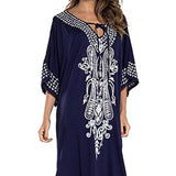 New Beach Dress Cotton Embroidery Beach Cover up White Beach Sarong Vestido Largo Playa Bathing suit Cover ups Robe de Plage - thefashionique