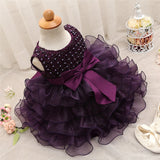 New Born Baby Girls Lace Flower Dress Toddler Girl Birthday Party Tutu Dress Children Princess Christening Gowns vestidos infant - thefashionique