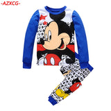 New Boys Mickey Pajamas Kids Autumn Winter Pajama Set Children Long Sleeve Sleepwear Boys Cute Cotton Pyjamas Suit Boy Clothing - thefashionique