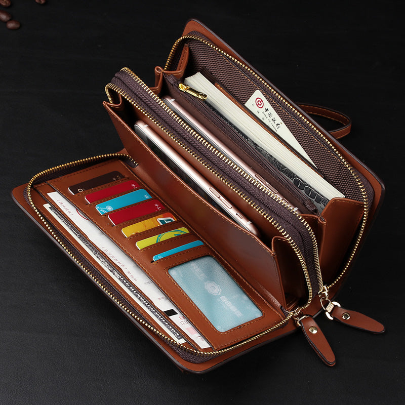 New Business wallet Coin Pocket purse long leather portfolio Large capacity fashion wallets Card Holder Clutch Passport purses - thefashionique