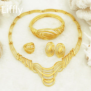 New Christmas Jewelry Turkey African Gold Jewelry Bridal Wedding Jewelry Necklaces Earrings Fashion Women Jewelry sets & more - thefashionique