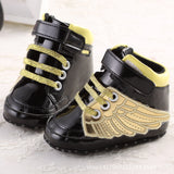 New Fashion PU Leather Baby Boys Prewalker Shoes Infant Toddler Angel Wings Bebe Crib First Walkers Boots Footwear Prewalkers - thefashionique