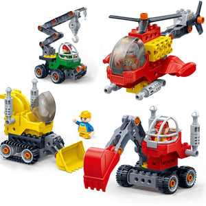 New Gifts Large Particles Children Screw Screwdriver Assembled Duploed Building Blocks Bricks Dream Factory Car Plane